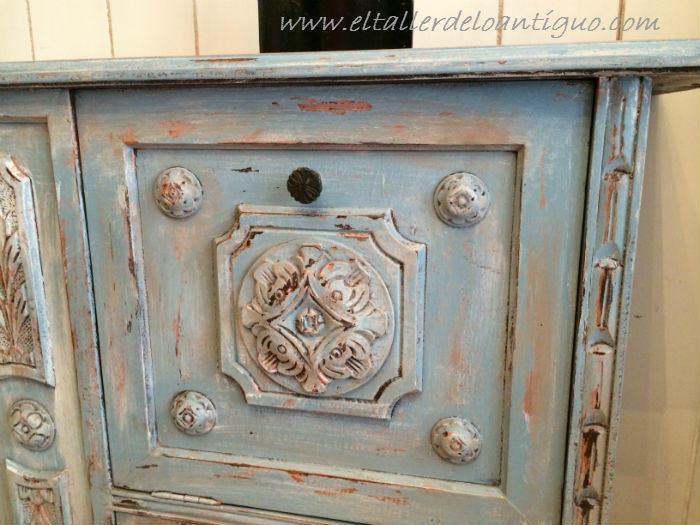 Pintar mueble t cnica decapado - Pintar muebles de colores ...