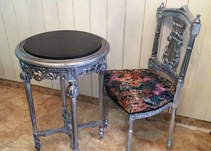 Dorados y plateados en la madera archives el taller de - Muebles pintados en plata ...