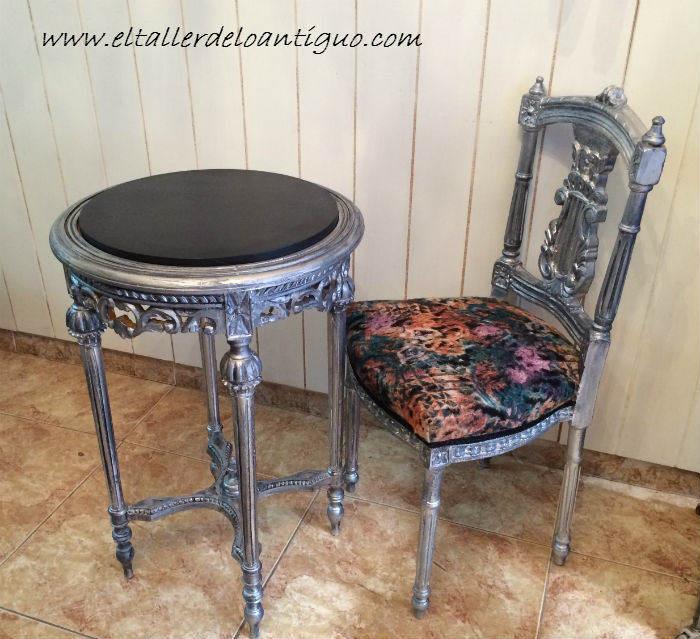 Pintar muebles en plata el taller de lo antiguo for Muebles pintados en gris