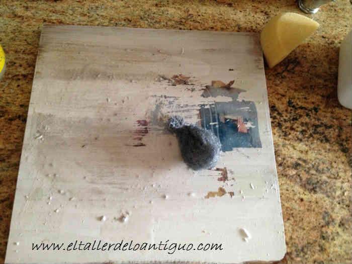 Como quitar un transfer de la madera el taller de lo for Quitar pintura de madera
