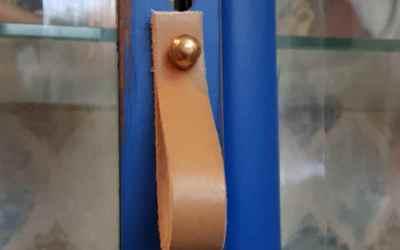 Diy-Tiradores de Cuero para muebles Como hacer de forma fácil y rápida unos tiradores reciclando un cinturón