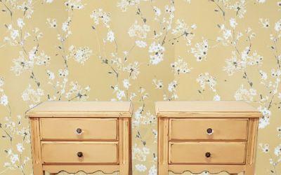 Pintar Mesitas combinadas con el Papel de pared combinar los colores con el papel de la pared
