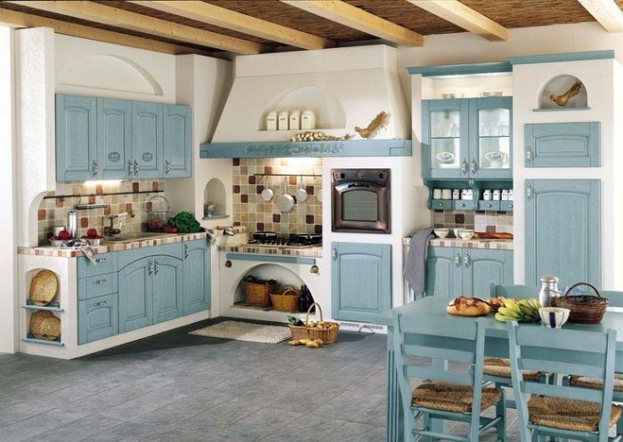Decoración de cocinas con un color base