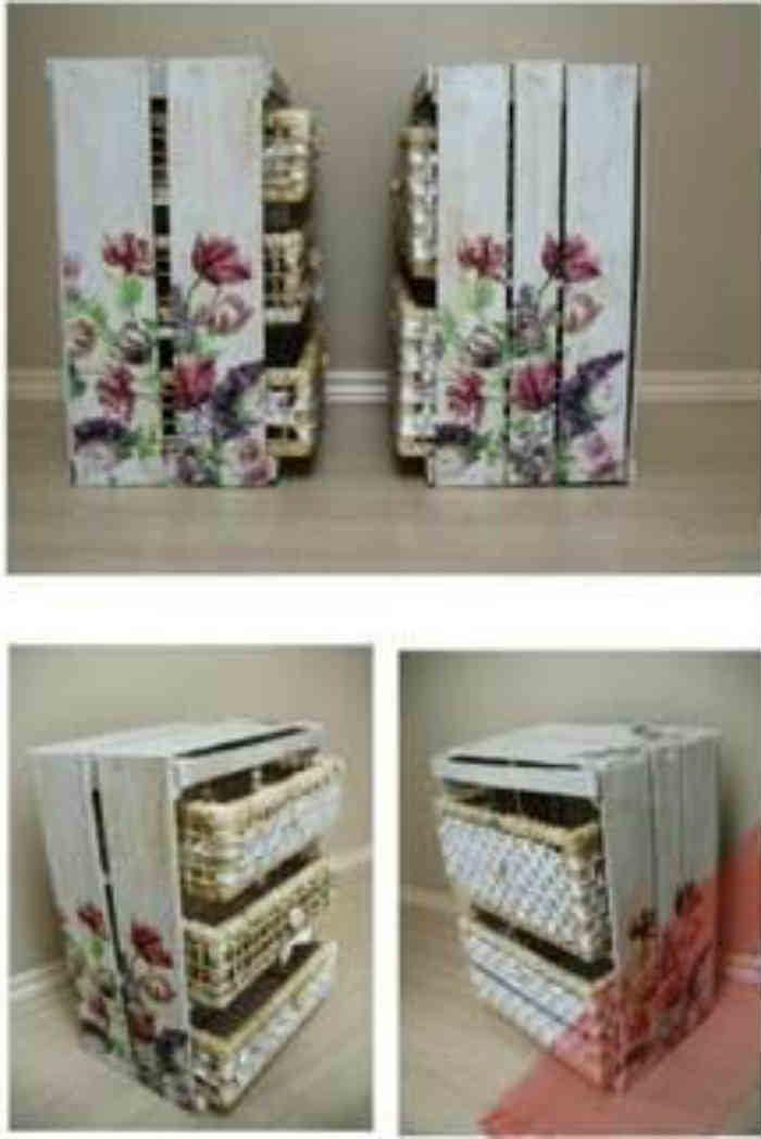 Reciclar cajas de madera el taller de lo antiguo - Cajas para cocina ...