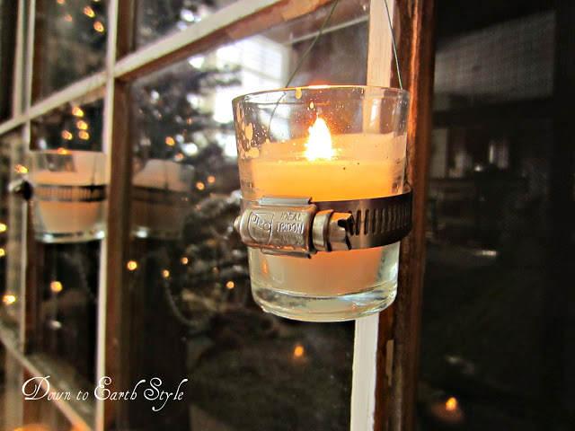 decora con velas y abrazaderas