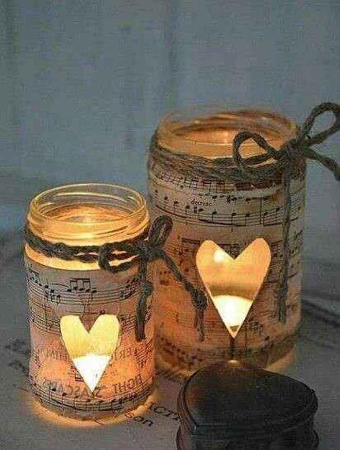 decora con velas y decoupage