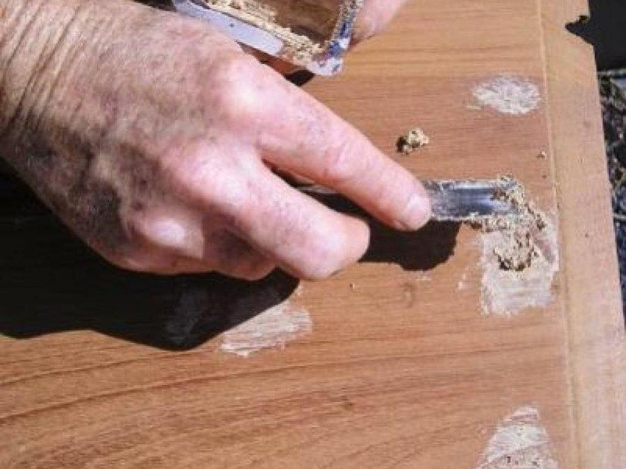 Masillar la madera