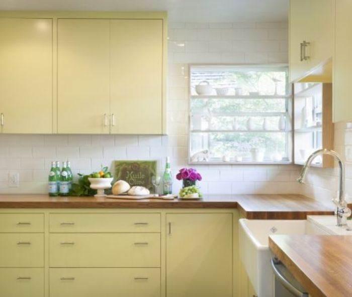 pintar cocina amarillo natilla