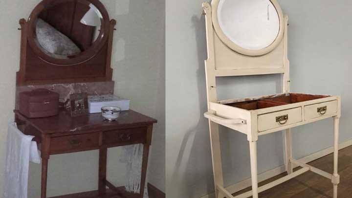 Pintar una coqueta antigua Renueva con pintura tus muebles antiguos