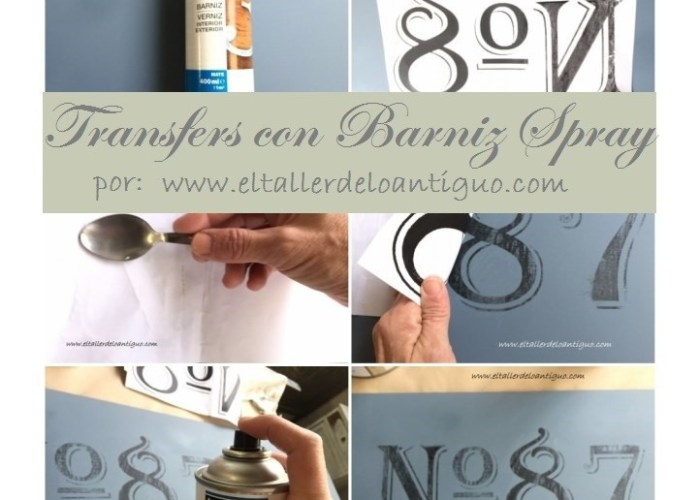portada transfers con barniz spray