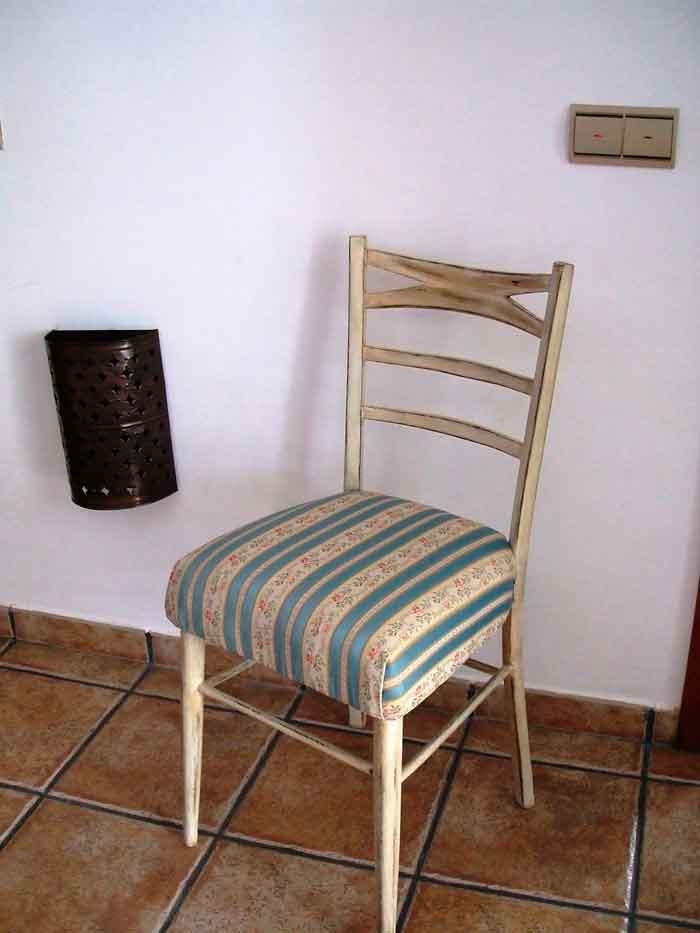 Restaurar una silla vieja a estilo vintage el taller - Materiales para tapizar ...