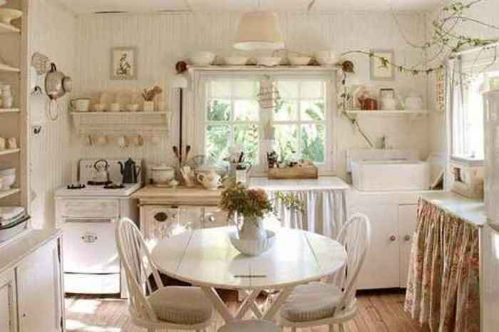 shabby chic cocina campestre