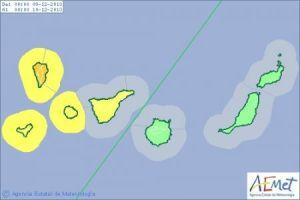 Aviso naranja por riesgo de fuertes vientos entre el lunes y el martes
