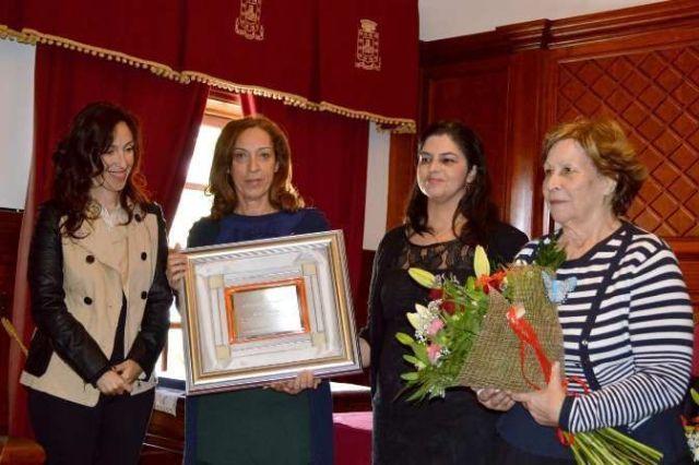 La Familia Arteaga en el acto de entrega del Premio Méritos Humanos 2014