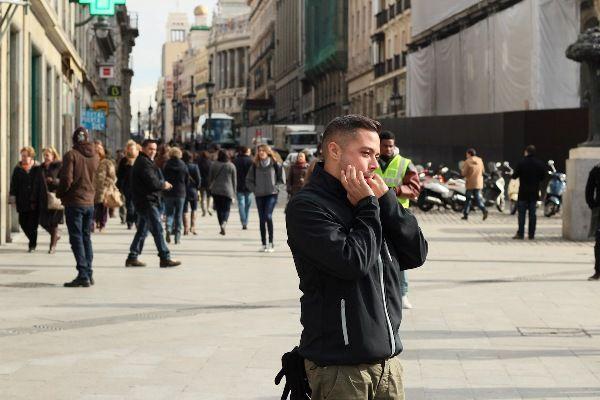 Silbo gomero en las calles de Madrid