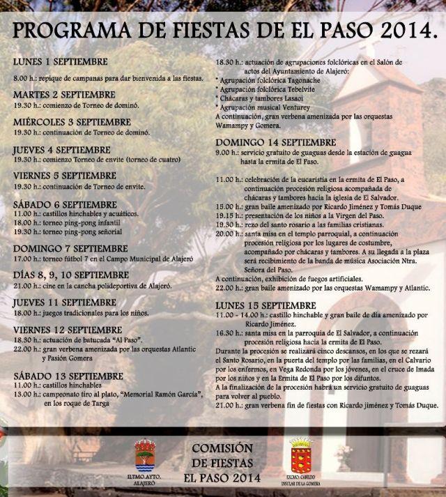 PROGRAMA FIESTAS EL PASO 2014-1