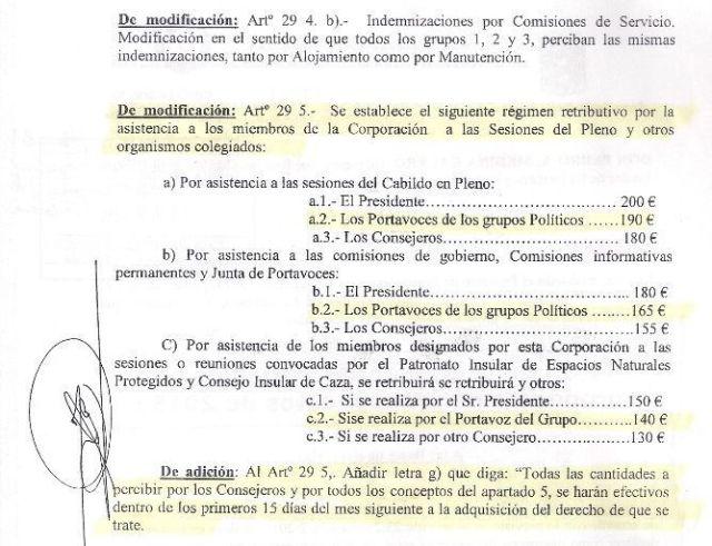 PROPUESTA DE PEDRO MEDINA  -CCN- PARA SUBIR LAS DIETAS
