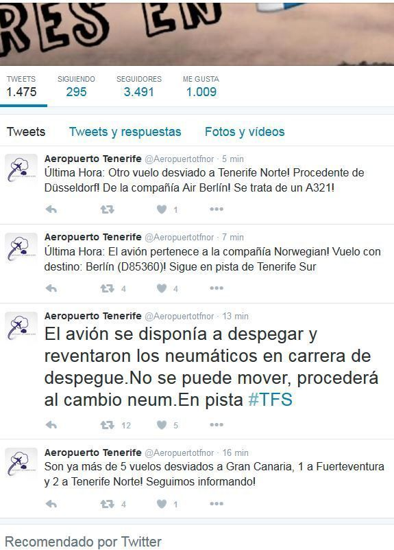 tweets tenerife norte