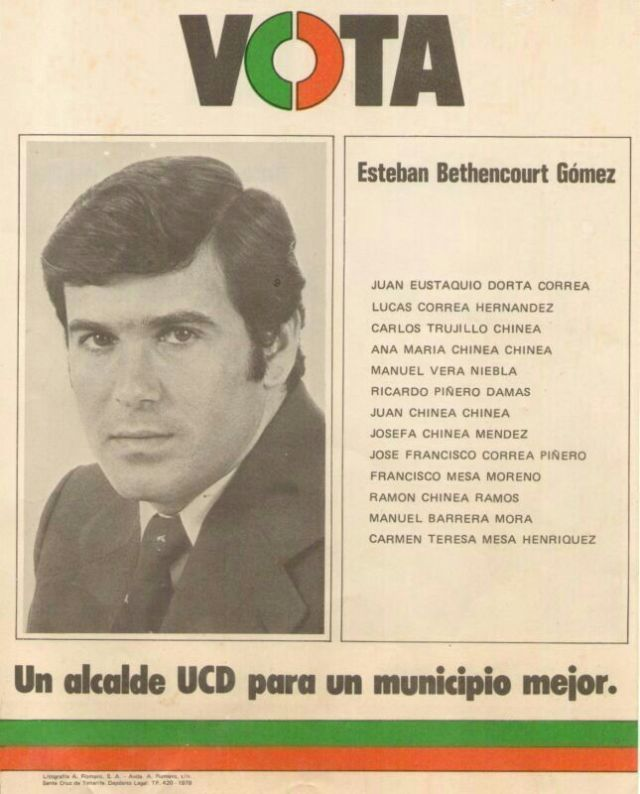 Esteban Bethencourt cuando era menbros de UCD