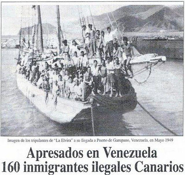 emigracion canaria a venezuela embarcacion elvira
