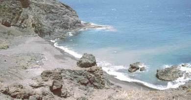 La playa del Trigo, en Vallehermoso, La Gomera
