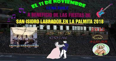 Organizan una cena baile en Agulo a beneficio de las fiestas de San Isidro en La Palmita 2018
