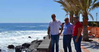 ASG solicita la reposición inmediata de la Avenida Marítima de Valle Gran Rey