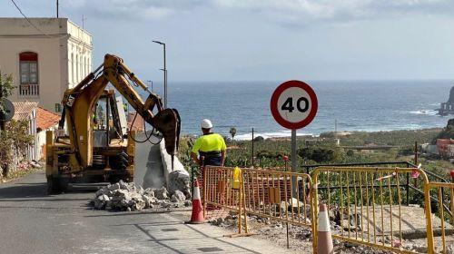 Mejoran con 335 mil euros parte del acceso a Santa Catalina en Hermigua