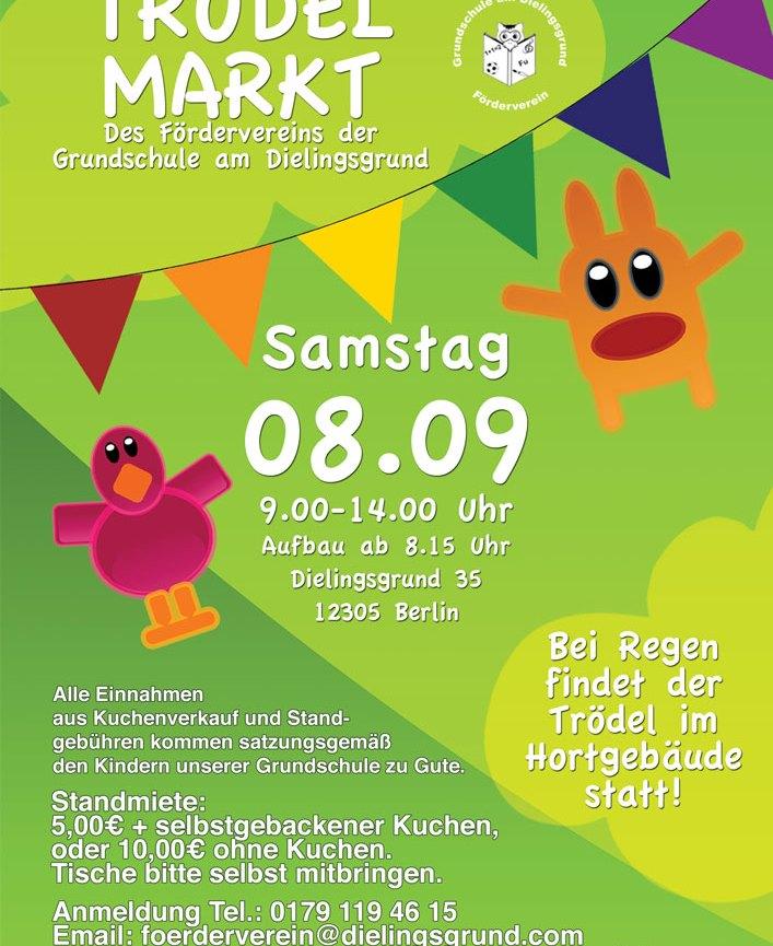 Trödelmarkt am 8.9.2018 von 9.00 – 14.00 Uhr