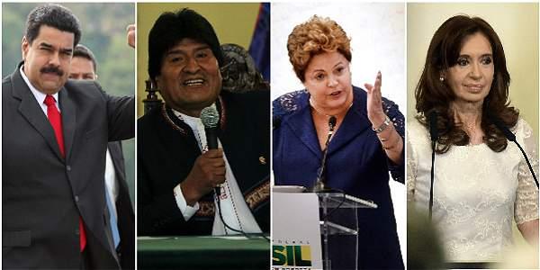 Resultado de imagen para foto de los corruptos de la izquierda latinoaMERICANA