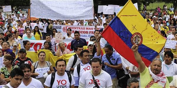Manifestantes salieron en Yopal porque completaron 3 años con deficiente servicio de agua.