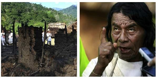 En la foto, el mamo Ramón Gil, que perdió a su hijo Juan Ramón Gil cuando cayó el rayo que mató a 11 indígenas.
