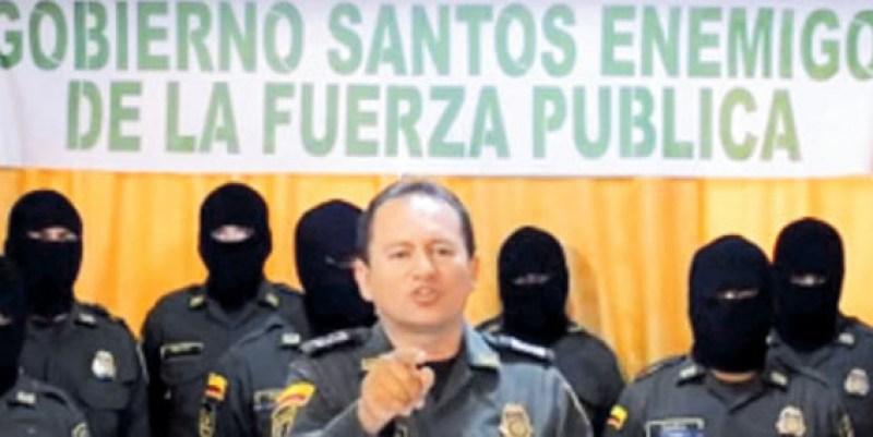 El video del patrullero Rubén Darío Rozo Giraldo se hizo viral en redes sociales.