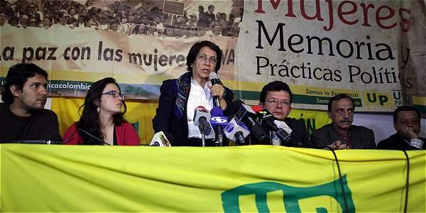 Aída Avella oficializó el respaldo de su partido a Juan Manuel Santos.