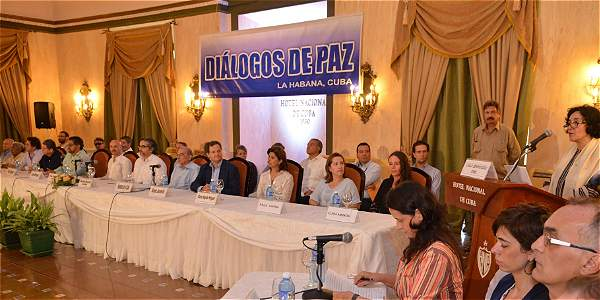 Diálogos de paz en La Habana entre las Farc y el Gobierno colombiano.