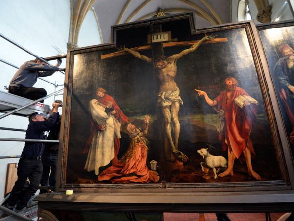 BBC Mundo: Jesús crucificado en un cuadro del pintor alemán Matthias Grunewald, del siglo XVI.