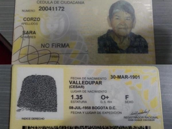 Mujer con 118 años