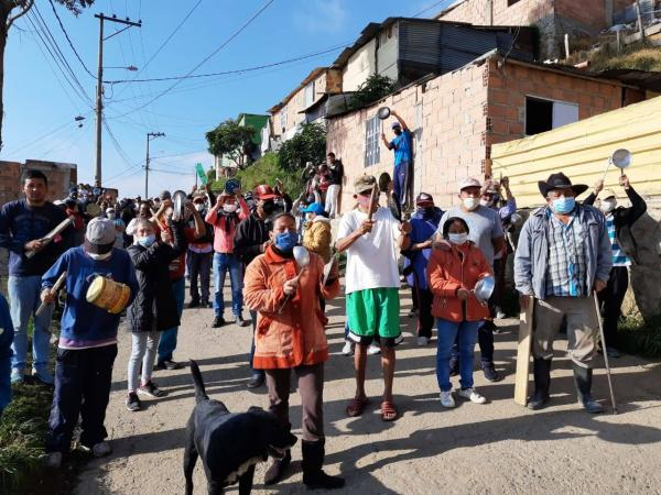 Protestas en varias localidades de Bogotá