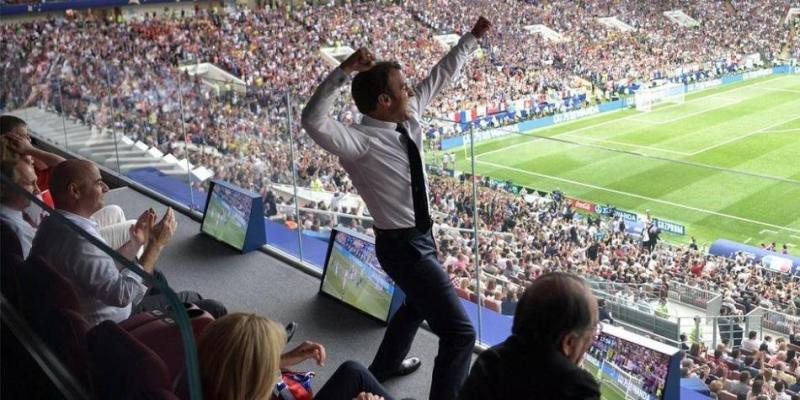 BBC Mundo: Macron celebra un gol en la final Francia-Croacia del Mundial.