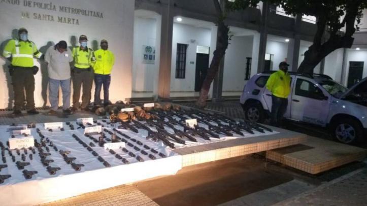 Resultado de imagen de armas incautadas cienaga