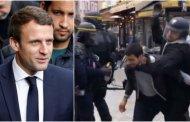 Guardaespaldas de  Emmanuel Macron golpea a estudiante en París
