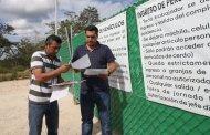 Seduma realiza diligencia para clausurar operaciones en granja porcícola de Homún.