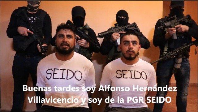 Cártel de Jalisco 'levanta' a dos agentes de la PGR y los obligan a grabar vídeo leyendo mensaje