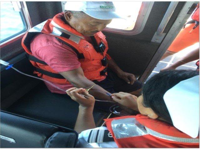 """Armada de México brindó apoyo a un tripulante de la embarcación pesquera """"CONGA"""""""