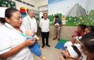 Más recursos humanos y materiales para la salud en Yucatán