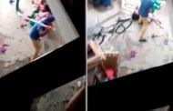 Hombre golpea salvajemente a una mujer porque dio a luz a una niña