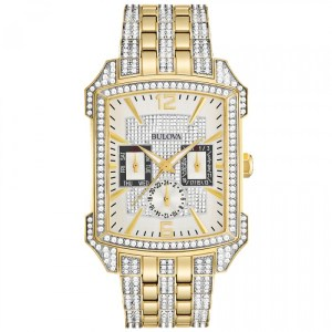 MENS BULOVA CRYSTAL COLLECTION WATCH