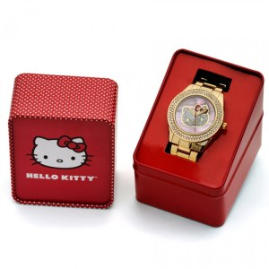HELLO KITTY GOLD TONE WATCH