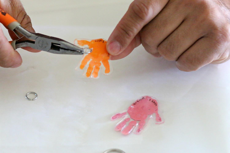 Llavero de huella de mano