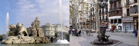 cibeles - Madrid vs Barcelona
